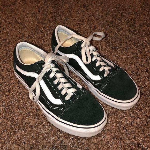 5f6bfbe1bbc4 Dark Green Vans. M 5c3694d56197458d7946d0b8